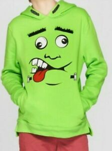 New Nwt Boy's Pullover Green Monster Frankenstein Sweatshirt Hoodie x-large 16