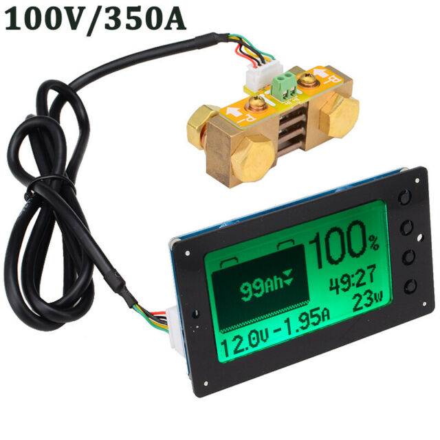 100V 350A Lead-acid Lithium Battery Capacity Tester Coulometer Coulomb Counter