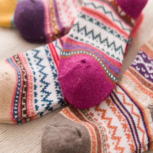 Winter Boreal Europe style Thermal Cashmere Socks Warm Thicken Women/'s Socks