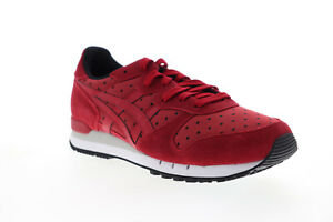 Onitsuka-Tiger-Alvarado-D7J8L-2626-Womens-Red-Suede-Low-Top-Sneakers-Shoes