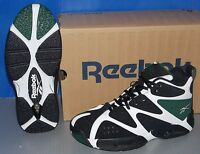 Boys Reebok Kamikaze I Mid In Colors White / Black / Green Size 4