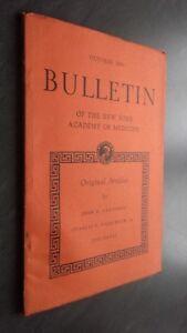 Notiziario Of I N.York Academy Of Medicina October 1950 Be