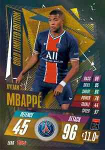 2020-21-Match-Attax-UEFA-Champions-League-Kylian-Mbappe-Gold-Limited-LE8G