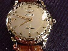 SWISS LONGINES 14 K SOLID GOLD MEN'S AUTOMATIC WATCH ORNATE LUGS