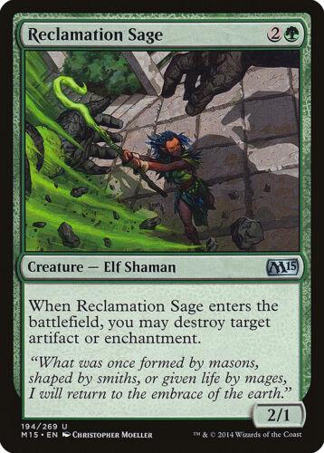 Magic the Gathering MTG 1x Reclamation Sage x1 LP/LP+ M15 Magic 2015 x 1