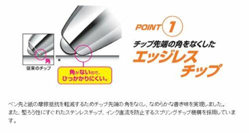 0.28mm-UMN-155-28 Blueblack Ink 3 pens Uni-ball Signo RT1 Rubber Grip Gel Pens