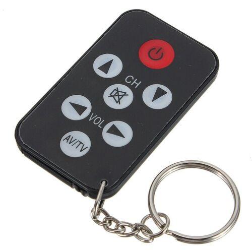 Mini Telecommande TV Infrarouge Noire Universelle avec Porte-Cles H7B5
