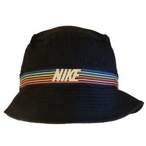 Image is loading Nike-Bucket-Hat-Blue-Rainbow-Stripe-Unisex-Mens- 7cb5e18ee