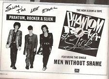 PHANTOM, ROCKER & SLICK (Stray Cats) UK magazine ADVERT / Poster 8x6 inches