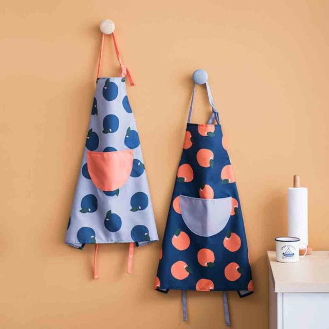 2 PCS Home Women Waterproof Cute Cartoon Kitchen Restaurant Cooking Bib Apron