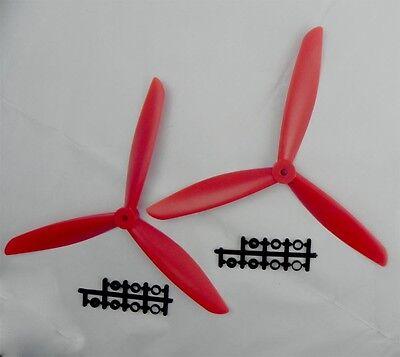 three 3 Blade Propeller 1045 10*4.5 CW CCW red for Quadcopter Multicopter 2PCS E