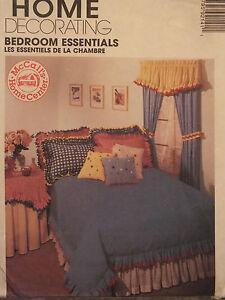 mccalls 9214 bedroom essentials duvet cover dust ruffle pillows shams