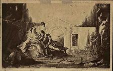 "Künstlerkarte Julius Bard ~1910 Museum BERLIN Kunst von TIEPOLO ""Rinaldo Armida"""