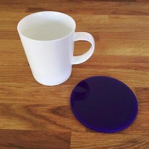 """Diplomatique Rond Violet Vernis Acrylique Coasters, Ensembles De 4, 6 Ou 8, 10 Cm 4""""-afficher Le Titre D'origine"""