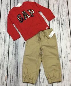 Gap Logo Striped Shirt /& Cargo Shorts Baby Gap Boys 12-18 Months Outfit Nwt