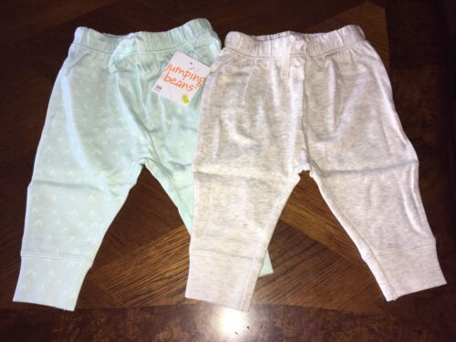 9 Months Kohl's NWT Lot Of 2 Baby Jumping Beans Jogger Pants Teal And White