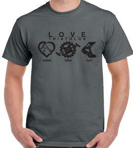 Love-Triatlon-Hombre-Camiseta-Ciclismo-Correr-Nadar-Ironman-Kit-De-Bicicleta-Deporte
