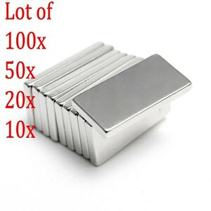 N50 10-100Pcs Neodymium Block Magnet 20x10x2mm Super Strong Rare Earth Magnets
