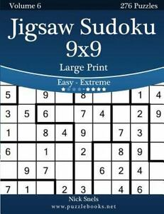 image relating to Jigsaw Sudoku Printable titled Information concerning Jigsaw Sudoku 9x9 : Straightforward toward Severe 276 Puzzles, Paperback via Snels, Nick, Br