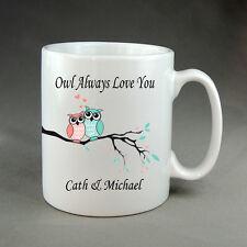 Beautiful Personalised Owl Always Love You Name Valentines Mug Present Family