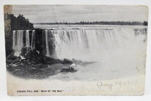 Vintage-1903-Postcard-Canada-Fall-and-034-Maid-of-the-Mist-034-Toronto