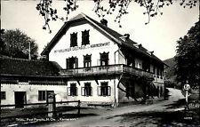 Thal Niederösterreich Ansichtskarte 1952 Straßenpartie am Gasthaus Karmerwirt