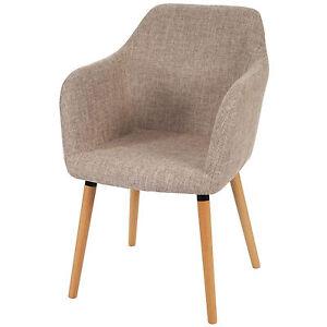 Esszimmerstuhl-Vaasa-T381-Retro-50er-Jahre-Design-Textil-creme-grau-Stuhl