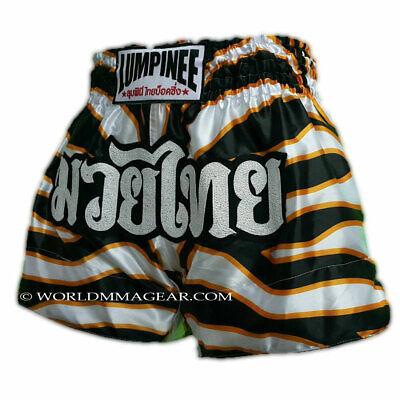 LUMPINEE MUAY THAI SHORTS Retro Fight Kickboxing Men /& Women Sizes 26/' to 44/'