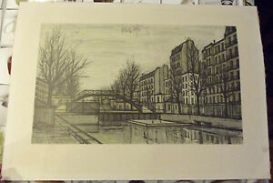 Ancienne-Lithographie-BERNARD-BUFFET-1956-reproduction-71-x-51-cm