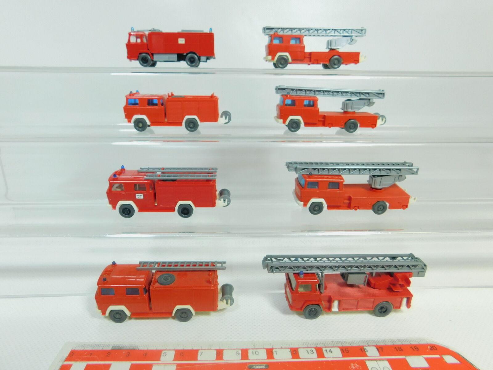 BO564-0,5  8x Wiking H0 1 87 LKW Magirus FW Feuerwehr  Drehleiter etc