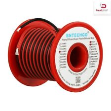 BNTECHGO 8 Gauge Silicone Wire Spool Black 25 feet Ultra Flexible High Temp 200 deg C 600V 8 AWG Silicone Rubber Wire 1650 Strands of Tinned Copper Wire Stranded Wire for Model Battery Low Impedance