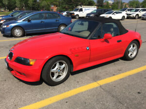Excellent Red 1996 BMW Z3 with 61K on her for Sale.