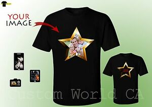Details About Fathers Day Custom Make Shirts Your Own Shirt Photo Picture Star Dad