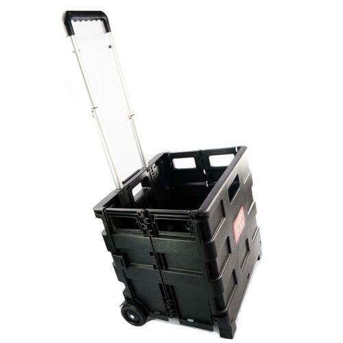 25 kg Pliage Shopping Chariot Boîte De Rangement Camping caisse voiture van Boot Panier Noir