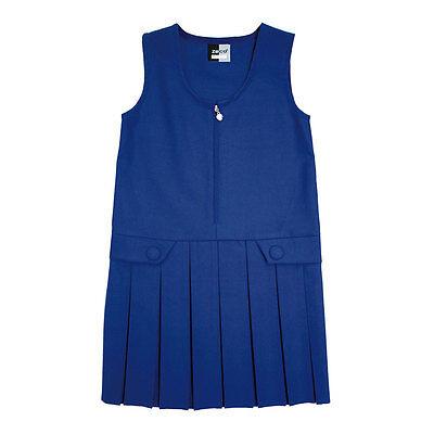 GP3030 Zeco School Uniform Girls Zip Front Pinifore Box Pleat Skirt 2-16 Years