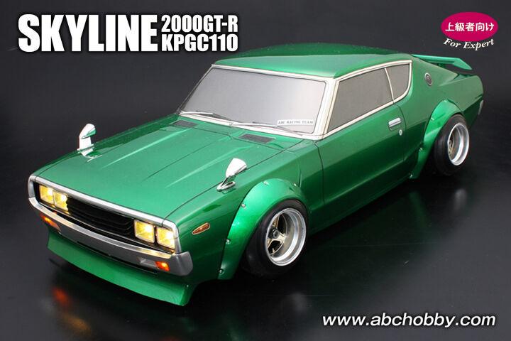 ABC-HOBBY 66155 1 10 Nissan Skyline 2000 GT-R (KPGC 110) STREET RACER STYLE
