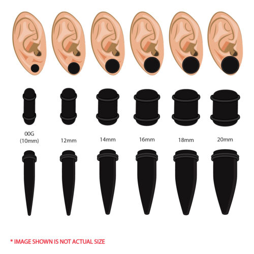 BodyJ4You 25PC Big Gauges Kit Ear Stretching Aftercare Balm 00G-20mm Taper Plug