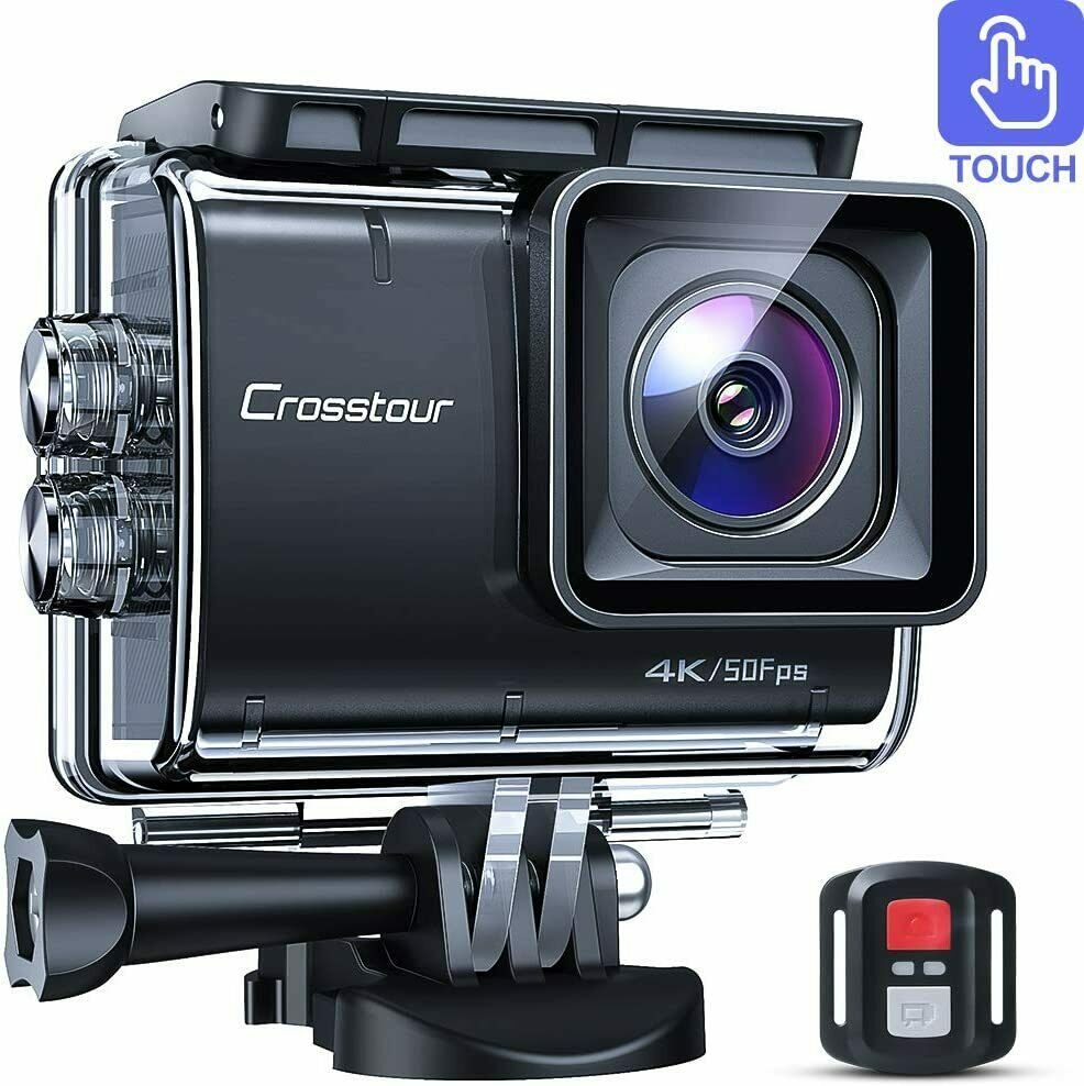 Crosstour CT9700 Native 4K50fps Touch Screen Action Camera 20MP Underwater 20mp 4k50fps action camera crosstour ct9700 native screen touch underwater