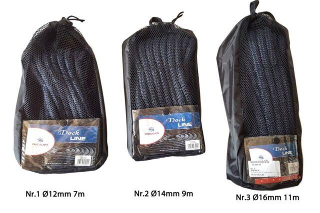 m; Osculati Festmacherleine mit Auge schwarz Ø 16mm x 11m 3,14 EUR