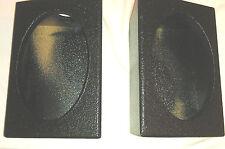 """PROBOX  6 x 9 """" SPEAKER BOX  ARMOR-COATED BLACK ENCLOSURES SUBWOOFER PAIR NEW"""