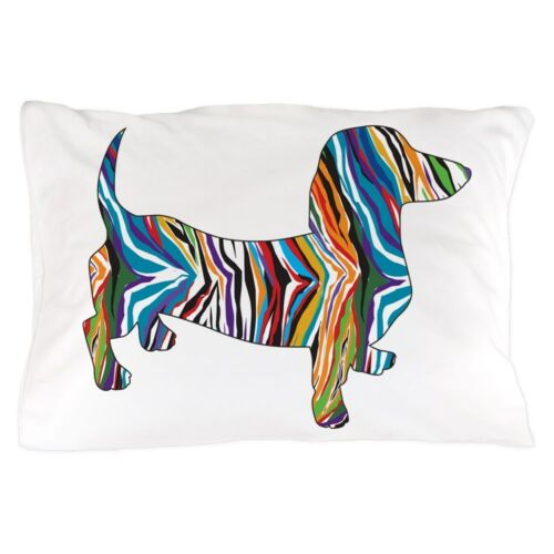 """Standard Size Pillow Case 20/""""x30/"""" Psychedelic Doxie Dachshund CafePress"""