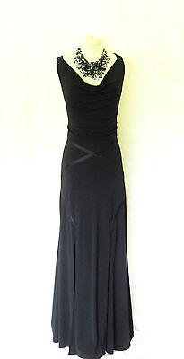 JOSEPH RIBKOFF Size 10 12 14 Black Ladies Designer Maxi Evening Cocktail Dress
