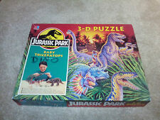 ORIGINAL JURASSIC PARK 3-D triceratops / spitters DINOSAUR PUZZLE  WITH BOX