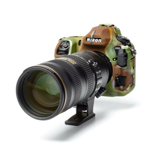 protectores de pantalla Camuflaje Cámara Funda De Silicona Para Nikon D850