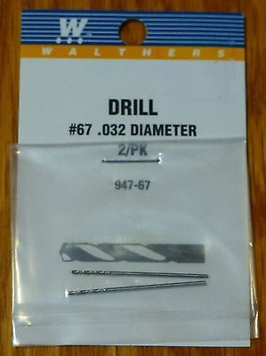 """Walthers 947-67 Drill Bits #67-0.032/"""" Diameter 2 pieces"""