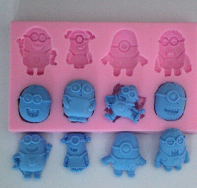Minions Silicone Cake Fondant Mould Chocolate Sugarcraft Mold Cutter Tools DIY*