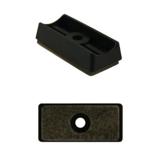 25mm schwarz Gleiter Fussstopfen Schalengleiter Filzgleiter für Rohre Ø 22mm