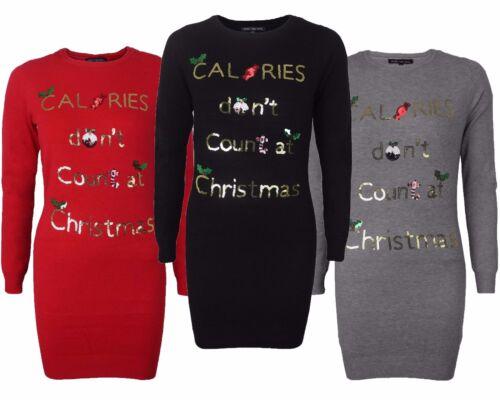 Womens Ladies Girls Christmas Novelty Sequin Xmas Long Tunic Thin Knit Jumper