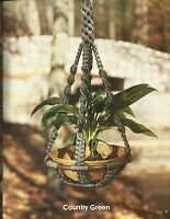 A Look For Plant Hangers Claire Lavin Pattern Instruction 8303 Book