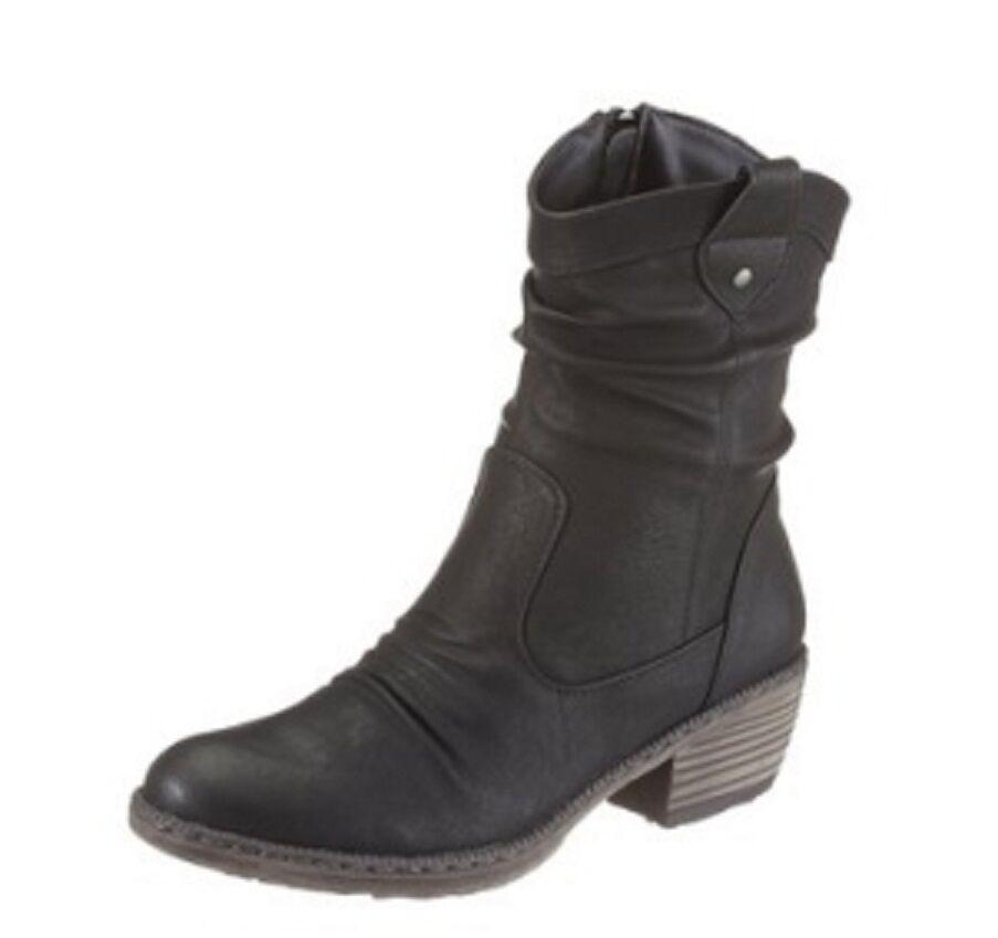 Rieker Booty Stiefel Stiefelette Gr. 40 bis 43 Schwarz (077) (902) NEU